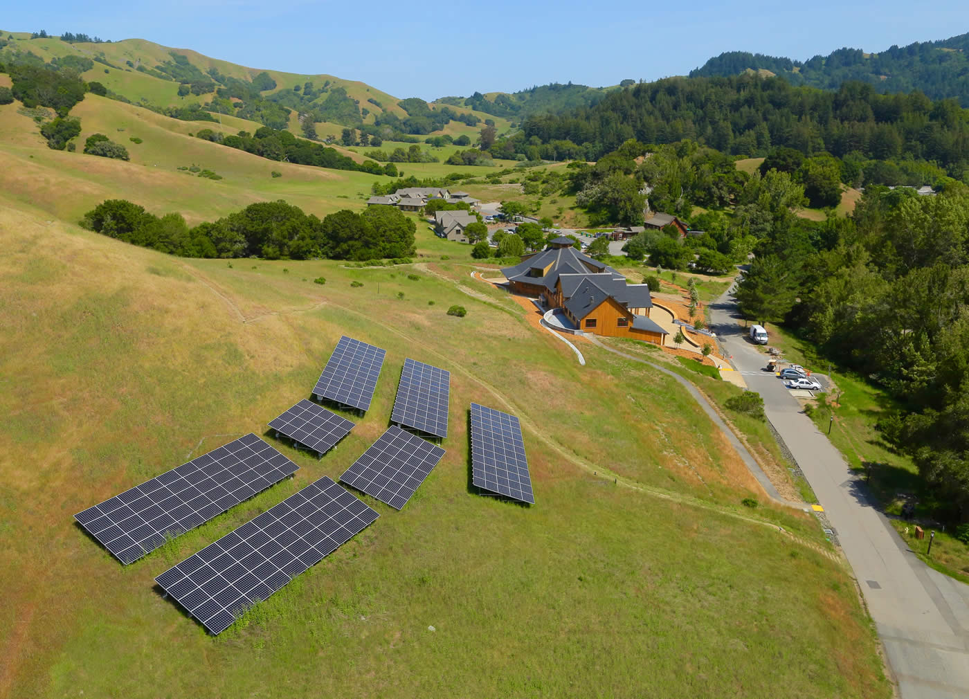 Commercial solar ground mount Woodacre California